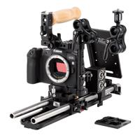Image of Wooden Camera Unified Accessory Pro Kit for Canon EOS R Camera, Includes Unified DSLR Cage (Small), A-Box (DSLR), Rod Clamp (15mm LW) and Battery Slide
