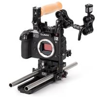 """Image of Wooden Camera Panasonic S1 Unified Accessory Kit (Advanced), Includes DSLR Cage (Medium), DSLR 15mm Baseplate, 2x 15mm Rod (12""""), Safety Dovetail Plate (8"""")"""