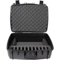Williams Sound Water Resistant Carry Case with 11 Slot Foam Insert for Digi-Wave Transceivers and Receivers, Large