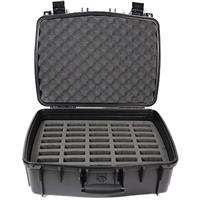 Williams Sound Water Resistant Carry Case with 40 Slot Foam Insert for Digi-Wave Transceivers and Receivers, Large