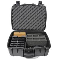 Williams Sound 12-Bay Drop-in Style Charger with Case for Digi-Wave DLT 100 Transceivers and DLR 60 Receivers