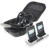 Williams Sound DWS PCS 2 300 Digi-Wave Personal Communication System with 2 Transceivers, 2 Headset Microphones, 1 Carry Case