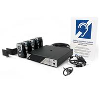 Williams Sound Williams Sound Personal PA FM Assistive Listening System, Includes PPAT45 Transmitter, 4x PPAR38N Receivers, 4x EAR013 Earphones, Coaxial Antenna, Rack Panel Kit