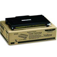 Image of Xerox 106R00678 Standard Capacity Yellow Toner Cartridge for Phaser 6100 Series Printers, 2000 Pages Yield