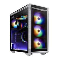 Image of XPG Battle Cruiser Mid-Tower Glass Panel PC Case, 4x 120mm ARGB Fans with RGB Controller, White