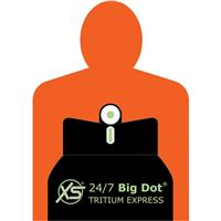 Image of XS Sights 24/7 Big Dot Tritium Express Sight Set for Colt Officers/Defender Pistol, Includes Tritium Front / Competition Rear Sights, Round Top