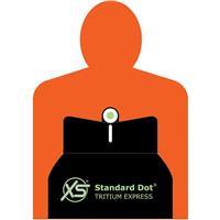 "Image of XS Sights Standard Dot Tritium Express Set for Colt Commander & Other Pistols with 4.25"" Barrel, Includes Tritium Front / Novak Rear Cut Sights"