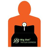 Image of XS Sights DXW Big Dot Handgun Sight Set for SIG Max Michel 1911, Tritium Front, White Stripe Rear & Adjustable Rear Sight