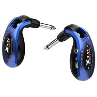 """Image of XVIVE U2 2.4GHz Guitar Wireless System, Includes 1/4"""" Transmitter and 1/4"""" Receiver, Metal Blue"""