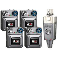 Image of XVIVE U4R2 In-Ear Monitor Wireless System with 1x Transmitter and 4x Beltpack Receiver
