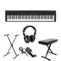 Image of Yamaha P-45 Compact 88-Key Portable Digital Piano + Keyboard Stand + Keyboard Bench + Keyboard Pedal + Studio Monitor Headphones