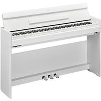 Image of Yamaha Arius YDP-S54 88-Key Slim Design Weighted Action Console Digital Piano with PA-300C AC Power Adapter, White Walnut