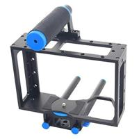 Compare Prices Of  YELANGU C1 Aluminum DSLR Camera Cage for Canon 5D Mark II / 7D / 60D, Black and Blue
