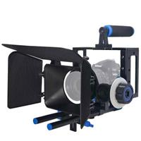 Image of YELANGU C100 DSLR Rig Camera Cage Kit with Matte Box and Follow Focus