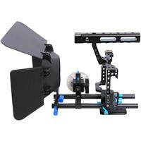 Image of YELANGU YELANGU C500 CH4 Camera Cage with Matte Box and Follow Focus, Blue Trim