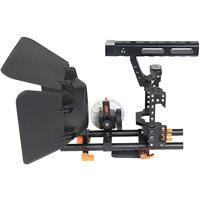 Image of YELANGU C500 CH4 Camera Cage with Matte Box and Follow Focus, Orange Trim