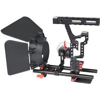 Image of YELANGU C500 CH4 Camera Cage with Matte Box and Follow Focus, Red Trim