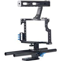 Image of YELANGU C5 Camera Video Cage Kit for Sony GH4/A7, Blue