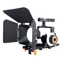 Image of YELANGU Camera Cage Kit with Matte Box and Follow Focus for Sony DSLR Camera