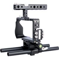 Image of YELANGU C6-A Camera Cage without Top Handle and Base Plate for Sony a6300/a6500 Camera