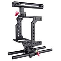 Image of YELANGU C8 Black Aluminum DSLR Camera Cage Kit for Canon DSLR Camera