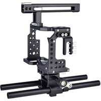 Compare Prices Of  YELANGU CA7 Camera Cage Kit with Top Handle Grip Stabilizer for Sony A7 Series Camera, Black