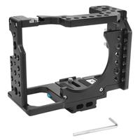 Image of YELANGU CA7 Camera Cage with Top Handle Grip Stabilizer & No Base Plate for Sony A7 Series Camera, Black