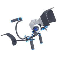 Image of YELANGU D100 Shoulder Mount Rig with Matte Box, Follow Focus and Top Handle for DSLR/VCR