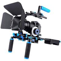 Image of YELANGU D204 Shoulder Rig Video Shooting Kit with C-shape Handle, Matte Box M1, Follow Focus F0