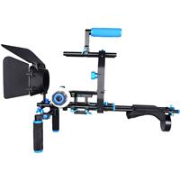 Compare Prices Of  YELANGU D206 Professional Shoulder Rig Aluminum Alloy Camera Support DSLR Rig, Blue