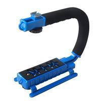 Image of YELANGU S2 C Shape Plastic Handheld Stabilizer Grip for DSLR Camera, Blue