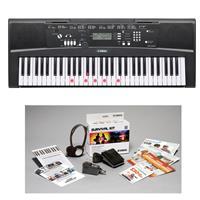 Image of Yamaha EZ220 Lighted 61-key Portable Keyboard with Survival Kit B2
