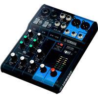 "Image of Yamaha MG06 6-Input Stereo Mixer, 20Hz-20kHz Frequency Response, 2x Mic/Line Combo Inputs, 4x 1/4"" Line Inputs, +48V Phantom Power"