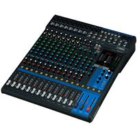 Image of Yamaha MG16XU 16-Input Mixer with Built-In FX & 2-In/2-Out USB Interface, 20Hz-48kHz Frequency, 10x Mic Inputs, 16x Line Inputs, +48V Phantom Power