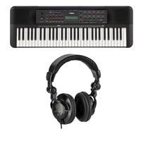 Yamaha PSR-E273 61-Key Portable Entry-level Keyboard Bundle with H&A Closed-Back Studio Monitor Headphones