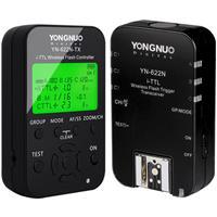 Image of Yongnuo YN-622N-TX Wireless i-TTL Flash Trigger Kit with LED Screen for Nikon Cameras, includes YN622N-TX Controller & YN622 N Transceiver, 1/8000s Sync Speed