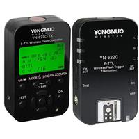 Image of Yongnuo Yongnuo YN-622C-TX Wireless E-TTL Flash Trigger Kit with LED Screen for Canon Cameras, includes YN622C-TX Controller & YN622 C Transceiver, 1/8000s Sync Speed