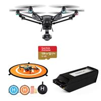 """Image of Yuneec Typhoon H3 Hexacopter with 1"""" Sensor 4K Camera, ST16S Groundstation Controller - Bundle With Yuneec 5250mAh Lithium Polymer Battery, FS Labs Drone Landing Pad, 29"""", 128GB microSDXC Card"""