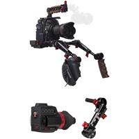 Image of Zacuto Gratical HD Micro OLED Electronic Viewfinder Bundle for Canon C200 Camera, Includes Rosette Dual Trigger Grips