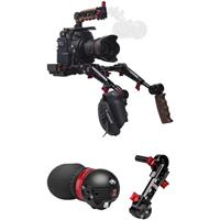 Image of Zacuto Gratical Eye Micro OLED Electronic Viewfinder Bundle for Canon C200 Camera, Includes Rosette Dual Trigger Grips