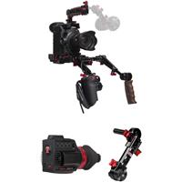 Image of Zacuto Gratical HD Micro OLED Electronic Viewfinder Bundle for Canon C300 Mark II Camera, Includes Canon Dual Trigger Grip