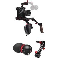 Image of Zacuto Gratical Eye Micro OLED Electronic Viewfinder Bundle for Canon C300 Mark II Camera, Includes Dual Trigger Grips