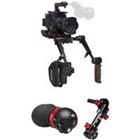 Image of Zacuto Gratical Eye Micro OLED Electronic Viewfinder Bundle for Panasonic EVA1 Camera, Includes Dual Trigger Grips