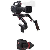 Image of Zacuto Gratical HD Micro OLED Electronic Viewfinder Bundle for Sony FS7 Mark II Camera, Includes Dual Trigger Grips