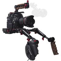 Image of Zacuto EVF Recoil Pro Rig with Dual Trigger Grips for Canon C200 Camera