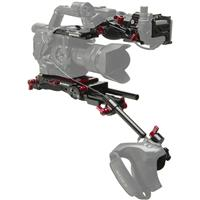 Image of Zacuto Z-Finder Recoil Kit for Sony FS5 Cameras, Includes VCT Pro Baseplate, Rosette Grip Relocator, FS5 Top Plate, Z-Finder Recoil Rig