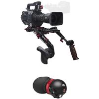 Image of Zacuto Gratical Eye Micro OLED Electronic Viewfinder Bundle for Sony FS7 Camera, Includes Dual Trigger Grips