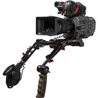 Image of Zacuto Gratical Eye Bundle for Sony FX9, Includes VCT Pro Baseplate, Dual Trigger Grips, Axis Mini