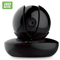 Image of Zencam M Series 1080p HD Pan/Tilt Wi-Fi Indoor IP Network Camera with 3.6mm Lens, 32' Night Vision, Black
