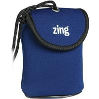 Image of Zing Blue Neoprene Case for Large Size Point & Shoot Cameras, with Belt Loop & Neck Strap